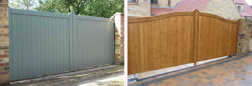 Wooden Gates In Nottingham & Derby, Garden & Driveway Gates - Open
